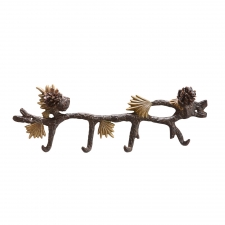 4-Hook Pine Cone Coat Hanger
