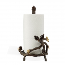 "15"" Pine Cone Paper Towel Holder"