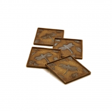 Set of 4 Dragonfly & Leaf Coasters