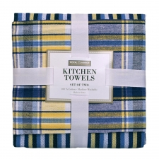 Blue Plaid Kitchen Towel Set