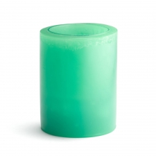 "Set of 2 3"" x 6"" Solid Flameless Candles, Turquoise"