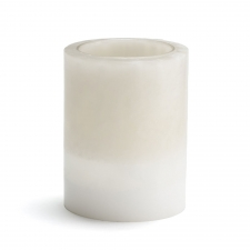 "Set of 2 3"" x 6"" Triple Layer Flameless Candles, Cream"