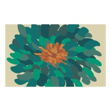3' x 5' Bombay Bloom Rug, Teal