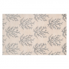 3' x 5' Coral Rug, Light Grey