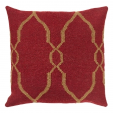 "18"" x 18"" Moroccan Tile Pillow, Rust"