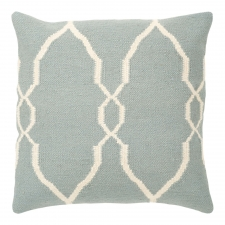 "18"" x 18"" Moroccan Pillow, Sky"