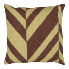 "18"" x 18"" Geometric Stripe Pillow, Lima Bean"