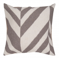 "18"" x 18"" Geometric Stripe Pillow, Winter White"