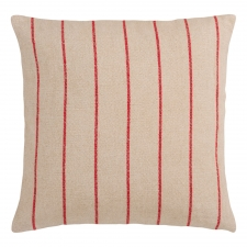 "18"" x 18"" Stripes Pillow, Beige"