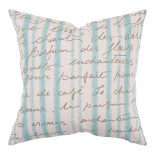 "18"" x 18"" Parisian Pillow, Ivory"