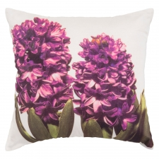 "18"" x 18"" Hibiscus Pillow, Purple"