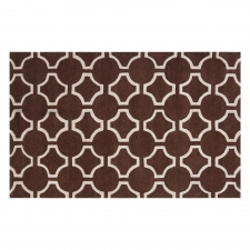 4' x 6' Jill Rosenwald Links Rug, Chocolate