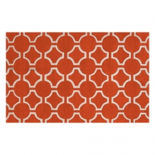 8' x 11' Jill Rosenwald Links Rug, Pumpkin
