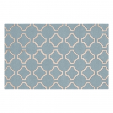 8' x 11' Jill Rosenwald Links Rug, Ice Blue