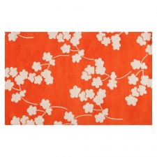 2' x 3' Jill Rosenwald Poppy Rug, Bright Orange