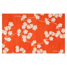 4' x 6' Jill Rosenwald Poppy Rug, Bright Orange