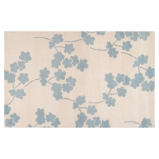 4' x 6' Jill Rosenwald Poppy Rug, Cloud Blue