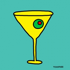 Mad Men Martini, Teal