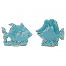Set of 2 Ceramic Fish