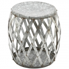 "17"" Galvanized Stool"