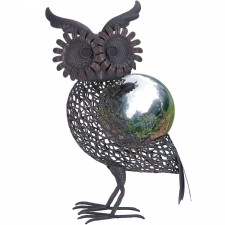 "17"" Owl Gazing Ball"