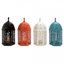Set of 4 Colored Lanterns