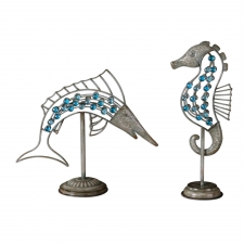 Sea Creatures Sculptures, Set of 2
