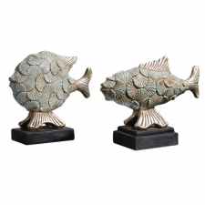 Deniz Fish Sculptures, Set of 2