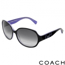 Coach Round Oversize Sunglasses, Black