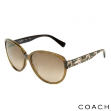 Coach Oversize Logo Sunglasses, Brown