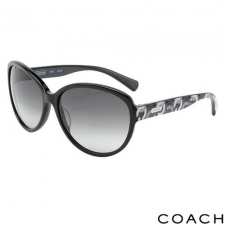 Coach Oversize Logo Sunglasses, Black