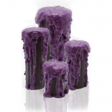 Purple Heart Candle, Set of 4