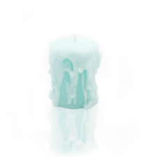Stephanie Blue Candle, Small