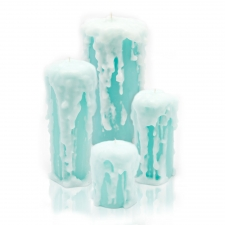 Stephanie Blue Candle, Set of 4