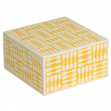 Medium Trinket Box, Yellow
