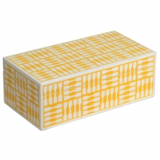 Rectangle Jewelry Box, Yellow
