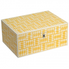 Large Rectangle Jewelry Box, Yellow