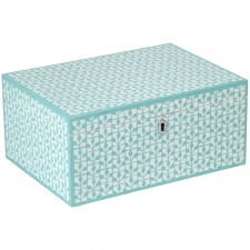 Large Rectangle Jewelry Box, Blue