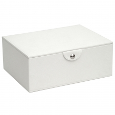 Large Stackable Jewelry Box, White