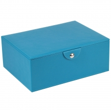 Large Stackable Jewelry Box, Turquoise