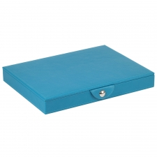 Large Stackable Tray with Lid, Turquoise