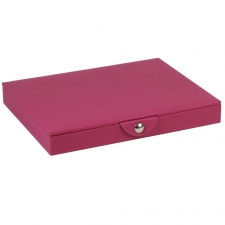 Large Stackable Tray with Lid, Fuchsia