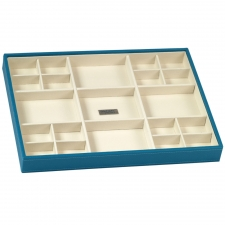 Large Standard Stackable Tray, Turquoise