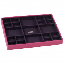 Large Standard Stackable Tray, Fuchsia