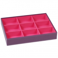 Large Deep Stackable Tray, Purple