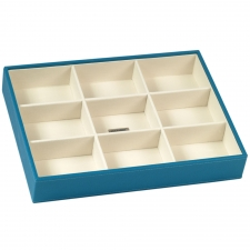 Large Deep Stackable Tray, Turquoise