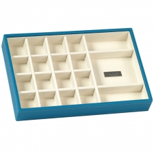 Small Standard Stackable Tray, Turquoise