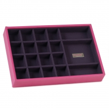 Small Standard Stackable Tray, Fuchsia