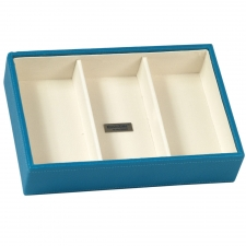 Small Deep Stackable Tray, Turquoise