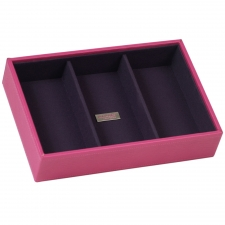 Small Deep Stackable Tray, Fuchsia